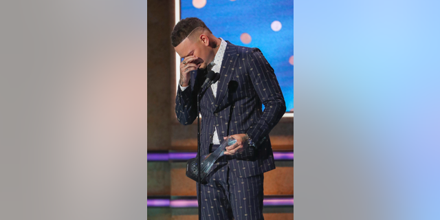 Kane Brown receives Artist of the Year Award at 2019 CMT Artists of the Year at Schermerhorn Symphony Center on Wednesday, Oct. 16, 2019, in Nashville, Tenn.