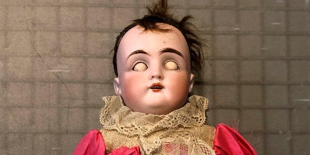 Some of the creepy dolls have movable eyelids. (Christine Rule via AP)