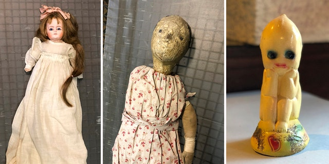 Part of the 'creepiest dolls' collection at the History Center of Olmsted County in Rochester, Minn. (Christine Rule via AP)