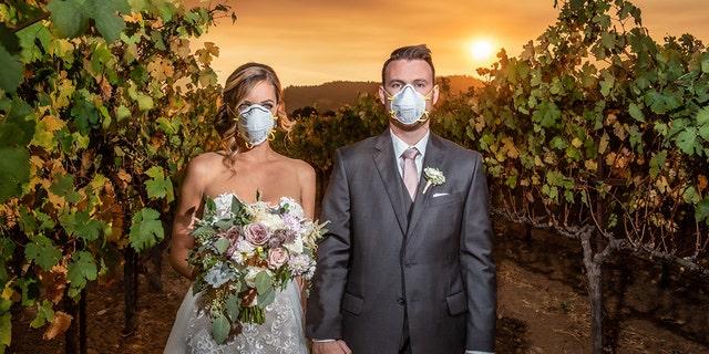 Wedding photo captures joy, sorrow amid Kincade Fire