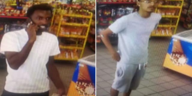 Dallas police are seeking two suspects for allegedly stealing more than $3,000 worth of gasoline from a pump late last month.