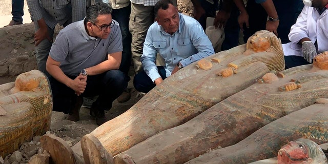 """In a statement, Egypt's Antiquities Ministry described the find as """"one of the largest and most important discoveries that have been announced during the past few years."""""""