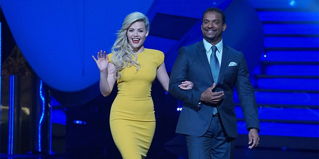 Witney Carson with Alfonso Ribeiro.