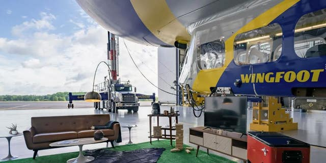 An Airbnb promotion will let guests stay overnight on the Goodyear Blimp this month. The package comes with a tailgate area, official gear and tickets to the Norte Dame vs. Michigan game on Oct. 26.