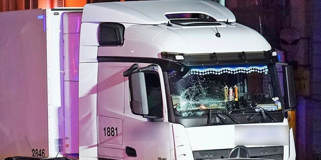 Police said seven people were taken to hospitals and the driver also was slightly injured after a truck drove into a line of cars in Limburg, Germany on Monday.