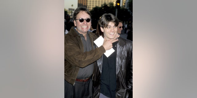 "John Ritter & son Jason Ritter during Westwood Premiere of ""Halloween H2O"" at Mann Village Theatre in Westwood, Calif."