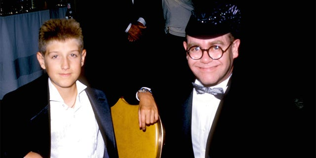 Ryan White and Elton John.