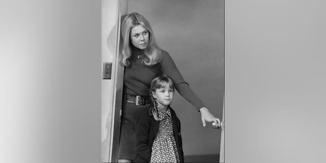 Elizabeth Montgomery and Erin Murphy, circa 1972.