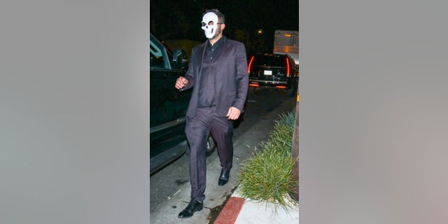 Ben Affleck, seen here in Los Angeles, appeared to stumble outside a Halloween party.