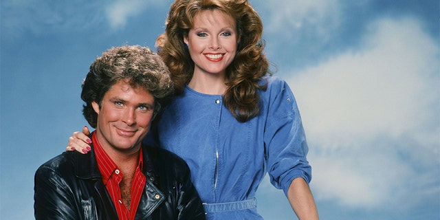 David Hasselhoff as Michael Knight, Rebecca Holden as April Curtis.