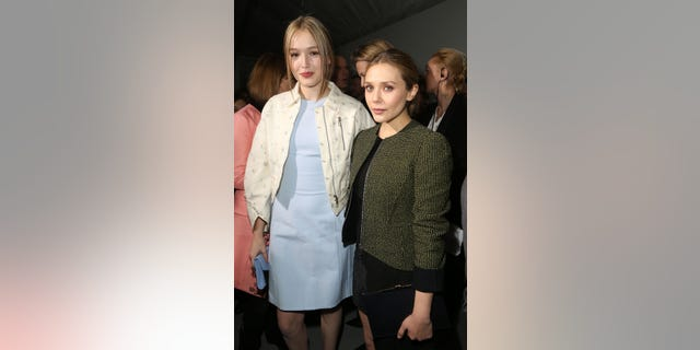 Maddison Brown and Elizabeth Olsen at the Christian Dior show in 2015. (Photo by Rindoff/Dufour/Getty Images)