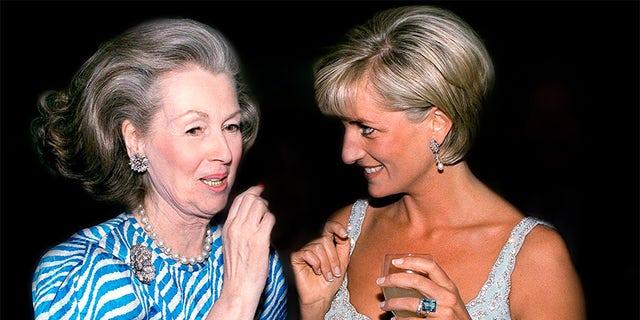 Princess Diana with her stepmother, Countess Raine Spencer.