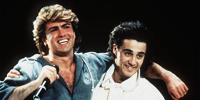 Wham! concert In London, Britain, circa 1985.