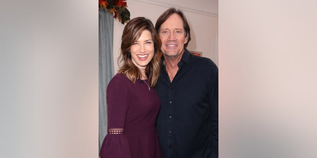 "Sam and Kevin Sorbo visit Hallmark's ""Home & Family"" at Universal Studios Hollywood on Oct. 24, 2017, in Universal City, California."