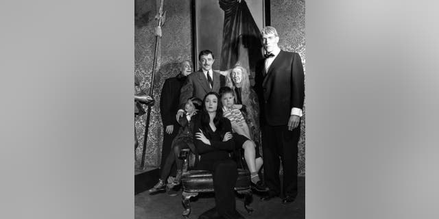 "The family's home was recreated in honor of the upcoming animated adaptation of ""The Addams Family,"" which was first adapted from a comic strip for the 1964 TV series."
