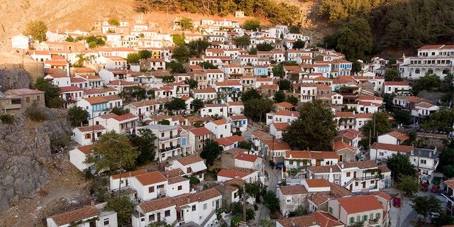 The village of Chora on Samothraki, northeastern Greece.