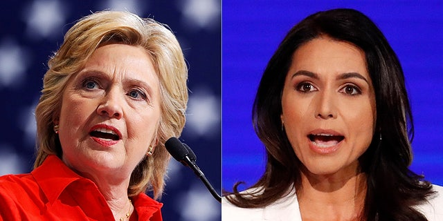 "Hillary Clinton appeared to accuse Democratic presidential candidate Tulsi Gabbard of being ""Russian asset"" in a newly-released podcast. (Reuters/AP)."