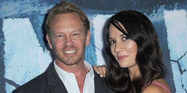 """Ian Ziering and Erin Ziering -- pictured here in August 2019 arriving for the premiere of SyFy's """"Zombie Tidal Wave"""" -- have called it quits on their 9-year marriage. (Photo by Albert L. Ortega/Getty Images)"""
