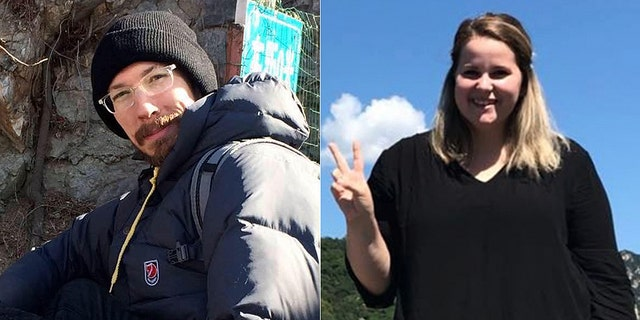Jacob Harlan, left, and Alyssa Petersen, of the U.S.-based educational organization China Horizons, have been arrested in China. (Facebook/GoFundMe)