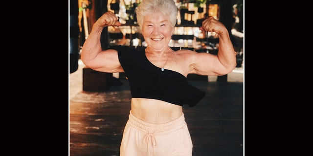 Joan MacDonald shows off her toned figure after deciding in 2017 to turn her life around and take control of her weight.