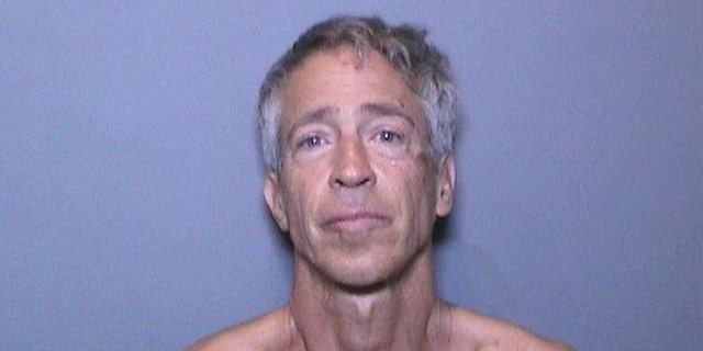 Joey Gabaldon, 52, was charged with suspicion of animal cruelty, resisting an executive officer and resisting arrest after allegedly beating a cat on the hood of a police vehicle.
