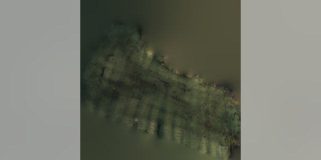 A composite image of the wreck site generated from several thousand photos of the Juffrau Elisabeth wreck. taken by Karl Klungland.