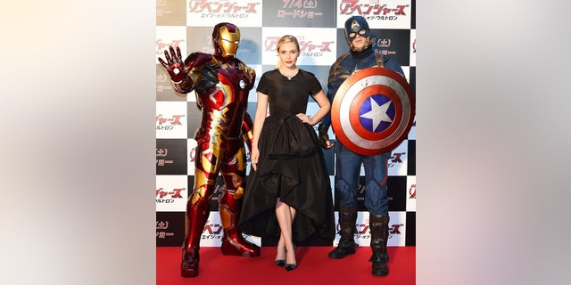 Elizabeth Olsen attends the premiere event for 'Avengers: Age of Ultron' at Roppongi Hills on June 23, 2015, in Tokyo, Japan.