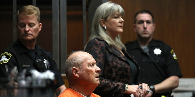 """Joseph James DeAngelo, the suspected """"Golden State Killer"""", appears in court for his arraignment in April 2018 in Sacramento, California."""