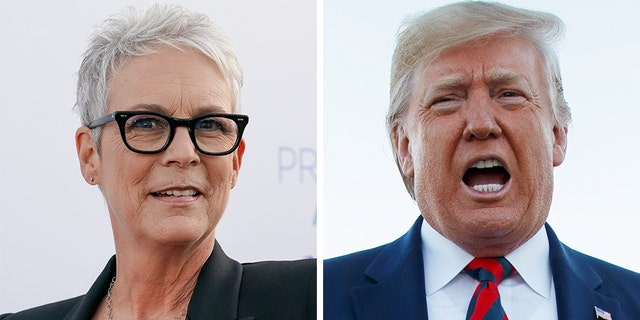 "President Trump's comparison of the dead ISIS chief to a ""dog"" sparked a surprising response from Jamie Lee Curtis."