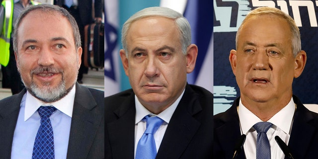 Avigdor Liberman, left, is reportedly set to meet with Israel's Prime Minister Benjamin Netanyahu on Thursdayto discuss Liberman's proposal for a unity government.