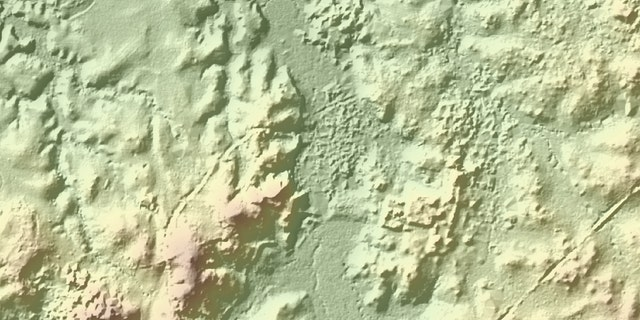 LiDAR image of the El Saraguato site.