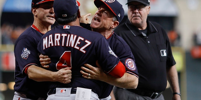 Westlake Legal Group MARTINEZ-EJECTED-CROPPED Nats top Astros 7-2, force World Series Game 7 RONALD BLUM fox-news/sports/mlb/washington-nationals fox-news/sports/mlb/houston-astros fox-news/sports/mlb-postseason fox-news/sports/mlb fnc/sports fnc Associated Press article 01579954-f76e-5aff-ba84-5c60173fbef1