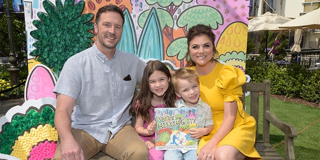 Tiffani Thiessen says she's a proud hands-on parent.