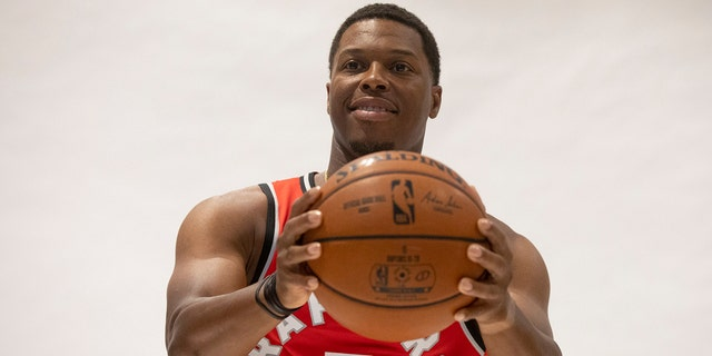 Toronto Raptors' Kyle Lowry poses during a photo shoot at the Raptors Media day in Toronto, Saturday, Sept. 28, 2019.(Chris Young/The Canadian Press via AP)