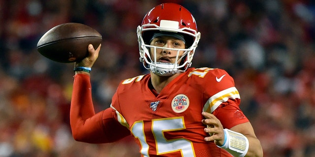 Kansas City Chiefs quarterback Patrick Mahomes throwing a pass during a game against the Indianapolis Colts this past October. (AP Photo/Ed Zurga, File)