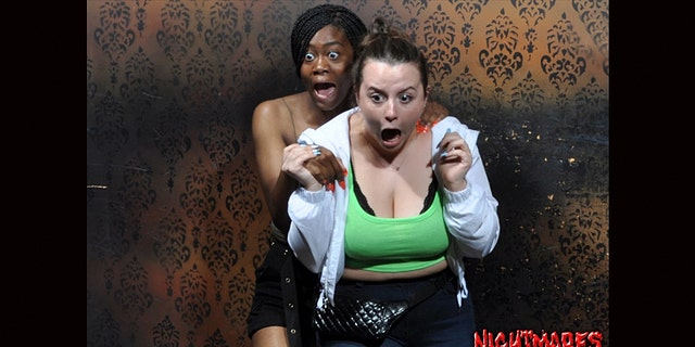 "All in good fun, the Nightmares Fear Factory shares the greatest ""fear pics"" of the day, week and month to its website – though officials have not disclosed exactly when or where on the excursion people see the especially spooky sight."