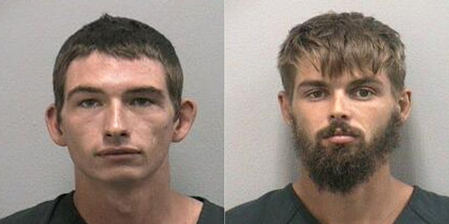 Noah Osborne(left) and Timothy Kepke(right) were charged with unlawfully taking an alligator.<br>