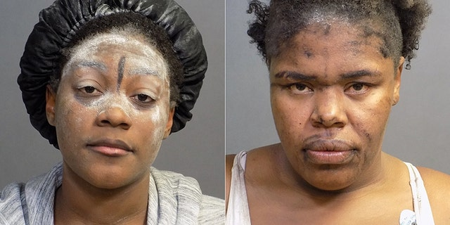 Laglennda Damona Carr (pictured left) and Passion Shenay Coleman (pictured right) were arrested on Oct. 5 for allegedly vandalizing a Costa Mesa restaurant.