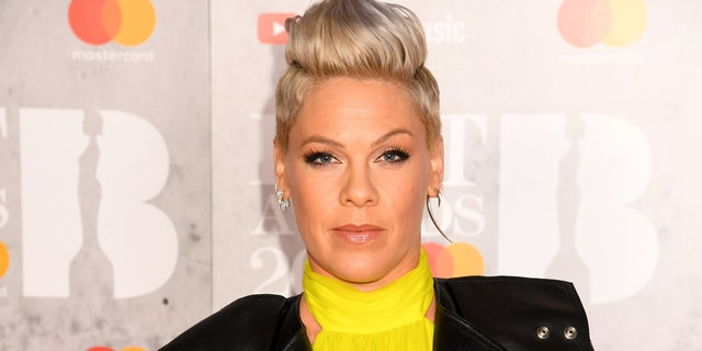 Pink responded to critics in the comments of an image of her at a protest for George Floyd.