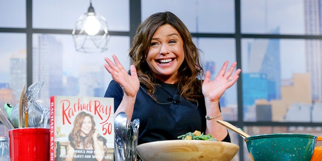 Chef Rachael Ray onstage during a culinary demonstration at the Grand Tasting presented by ShopRite featuring Culinary Demonstrations in New York City.