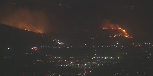 The Easy Fire broke out early Wednesday in Southern California.