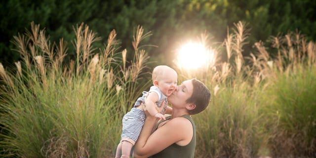 Sarah and her son Roman.