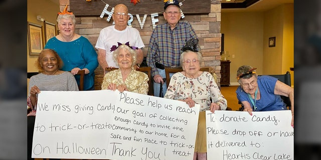 Seniors at Heartis Living Center asked for candy donations so they could host trick-or-treaters. (Heartis Senior Living)