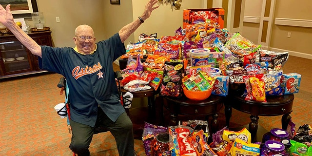Seniors were thrilled at all the candy donations and excited to host trick-or-treaters. (Heartis Senior Living)
