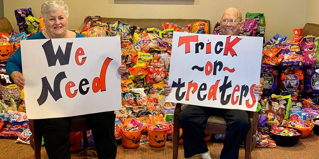 Senior citizens wanted to invite trick-or-treaters to their home in Clear Lake, Texas, this year. (Heartis Senior Living)