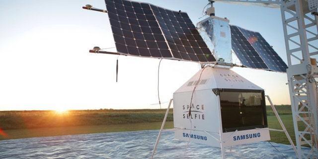 A Samsung pseudo space satellite crash-landed on a farm inMichigan.
