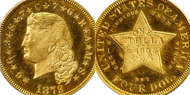 The Stella coin is valued at $200,000, but could sell for $1 million, according to auction house Stack's Bowers Galleries.