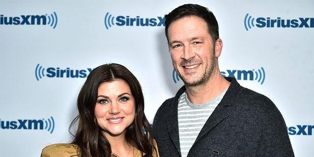 Tiffani Thiessen and her husband Brady Smith.