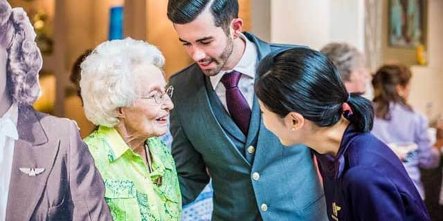 Delta helped organize Sybil's 102nd birthday party last June, where she celebrated with friends, family and a couple of current Delta employees.