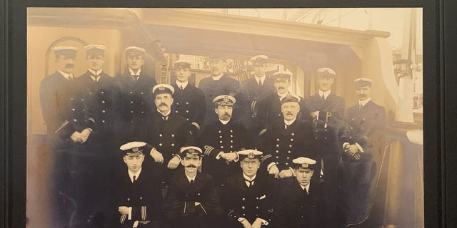 Samuel Smith (second left in the front with the mustache) with S.S. Minia crew members.